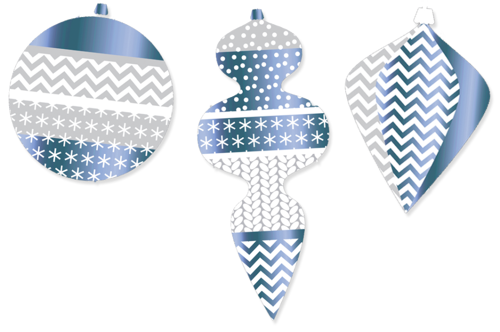 blue ornaments icons